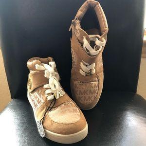 Michael Kors Sued MK fabric high Top Tennis Shoes